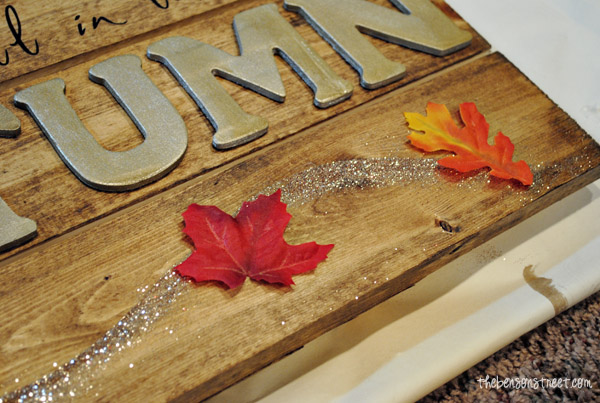Glitter  Autumn sign at thebensonstreet.com