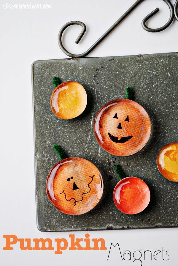 Pumpkin Magnet Tutorial at www.thebensonstreet.com