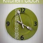 DIY Silverware Kitchen Clock