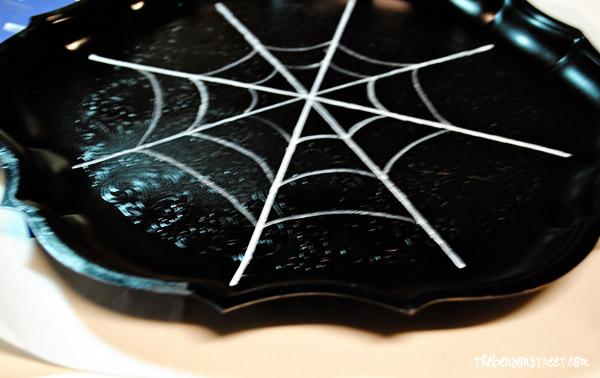 Halloween Spider Serving Tray Idea at thebensonstreet.com