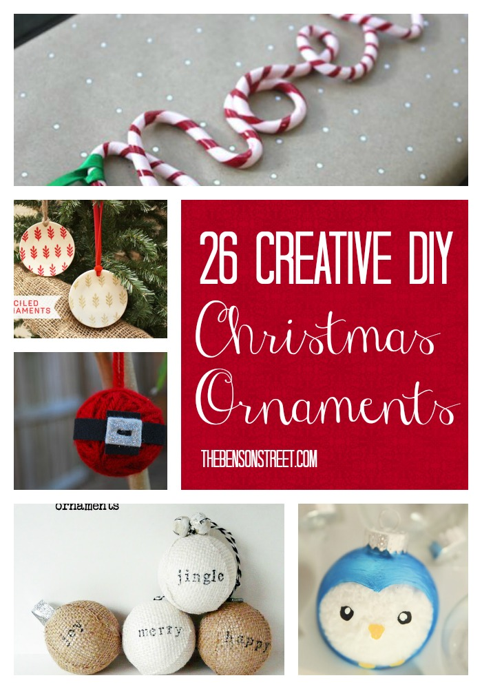 26 Creative DIY Christmas Ornaments at thebensonstreet.com