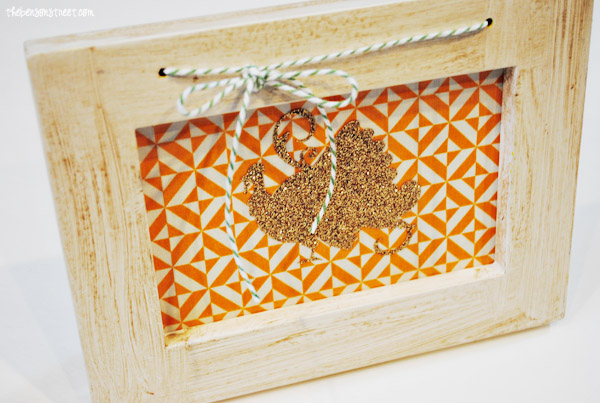 Adorable Glitter Turkey Frame at thebensonstreet.com