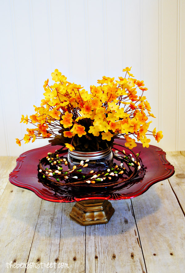 Centerpiece for Thanksgiving at thebensonstreet.com