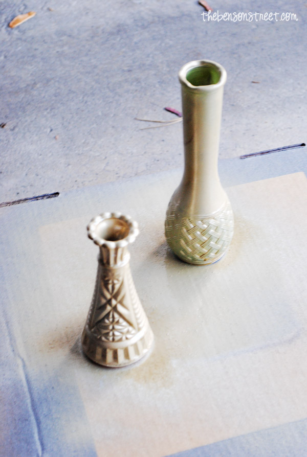 Easy Painted bud vases at thebensonstreet.com