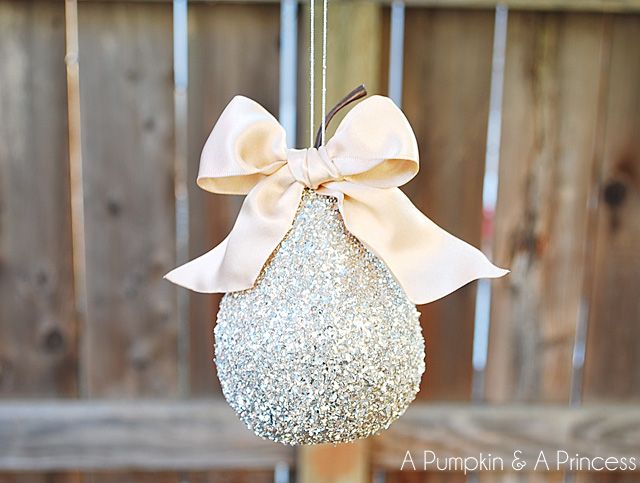 German-Glass-Glitter-Pear-Ornament