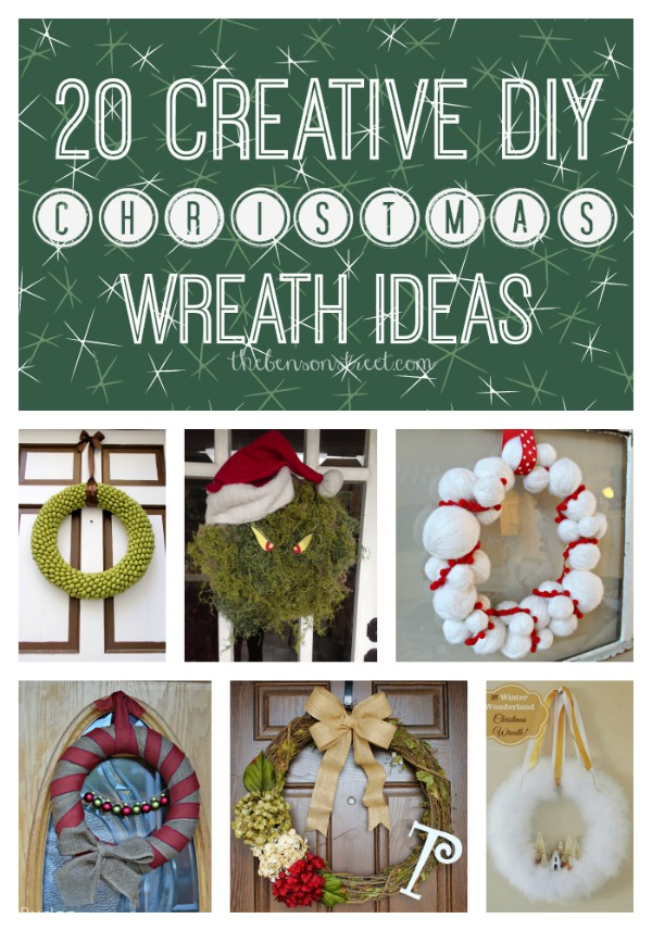 20 Creative DIY Christmas Wreath Ideas at thebensonstreet.com