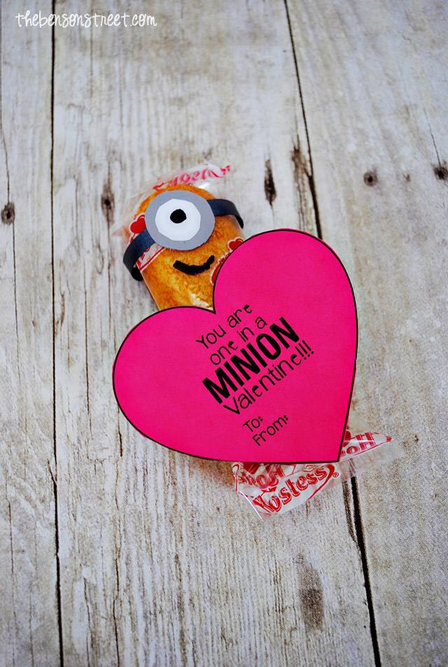 Adorable Minion Twinkie Valentine At Thebensonstreet.com