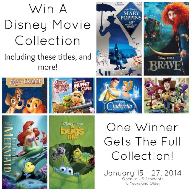 Disney Movie Collection Giveaway at thebensonstreet.com