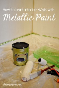 How to Paint a Metallic Accent Wall #ModernMasters - The ...