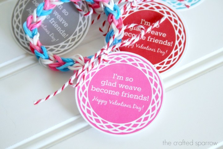 Loom Band Printable Round Valentines 3