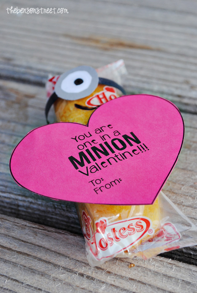 You're One in a Minion Valentine Idea at thebensonstreet.com
