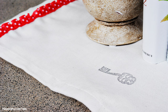 Stamped Tea Towel at thebensonstreet.com