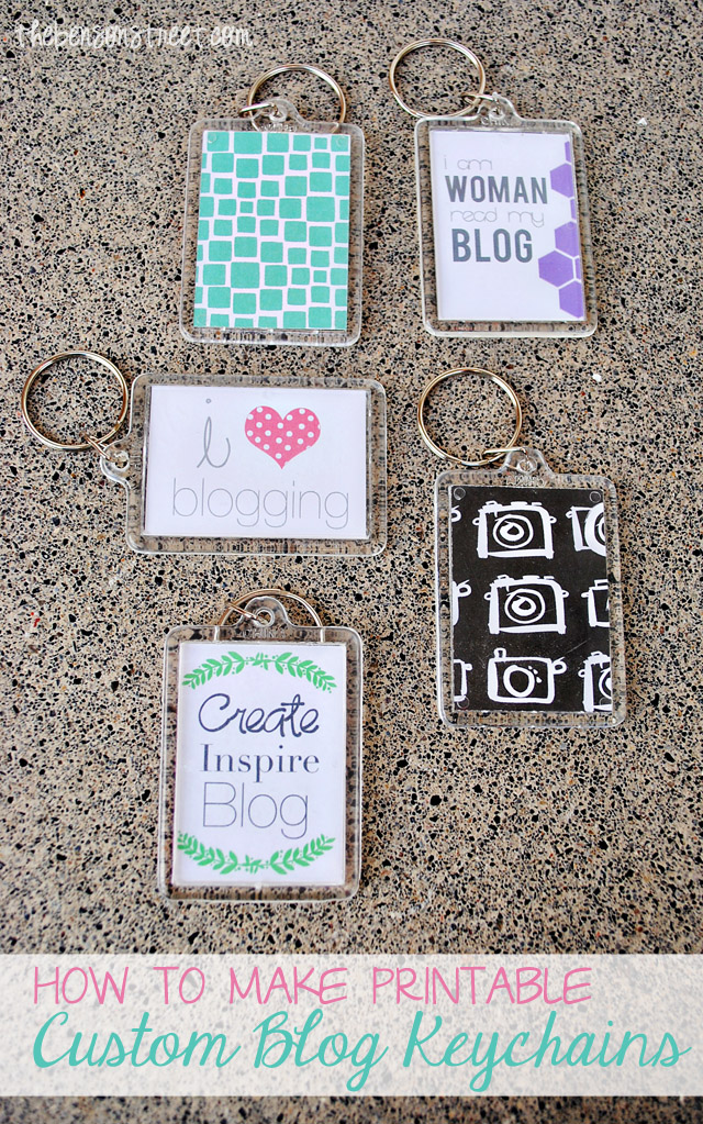 How to make printable blog keychains at thebensonstreet.com