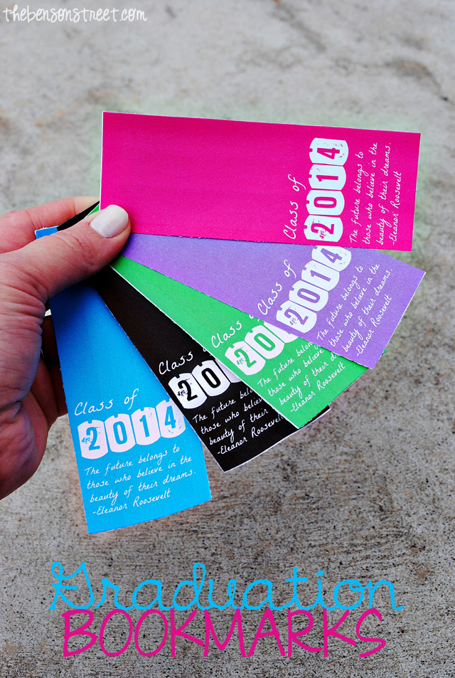 Printable Graduation Bookmarks 2014 at thebensonstreet.com