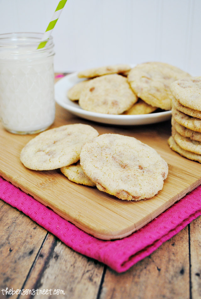 Super Special Snickerdoodle cookies at thebensonstreet.com