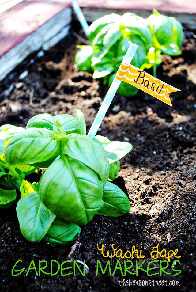 Washi Tape Garden Markers at thebensonstreet.com
