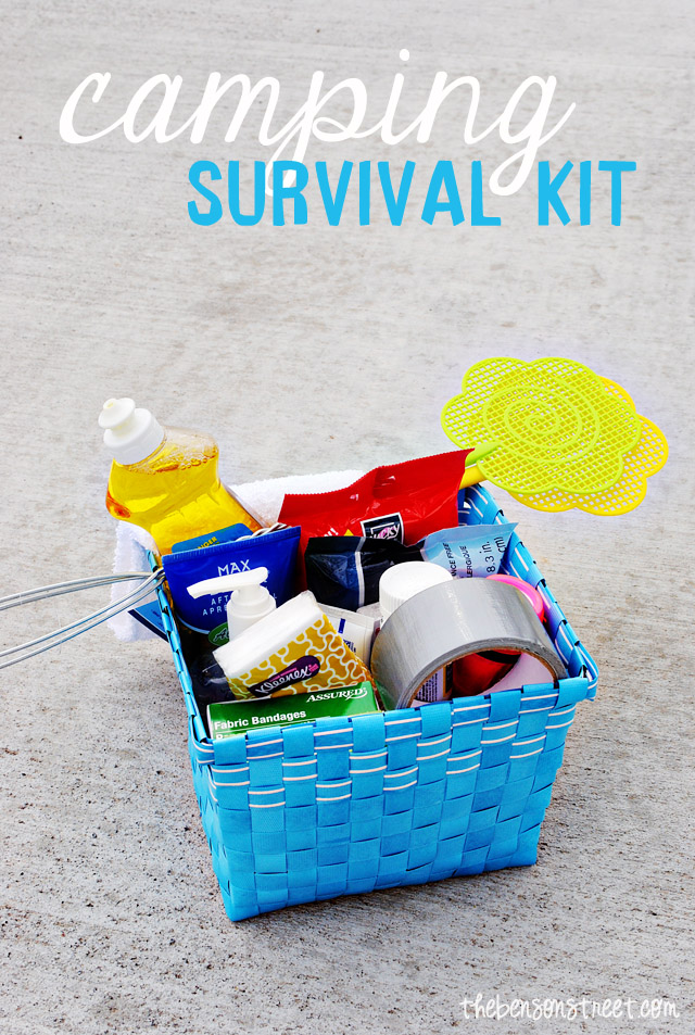 Camping Survival Kit at www.thebensonstreet.com
