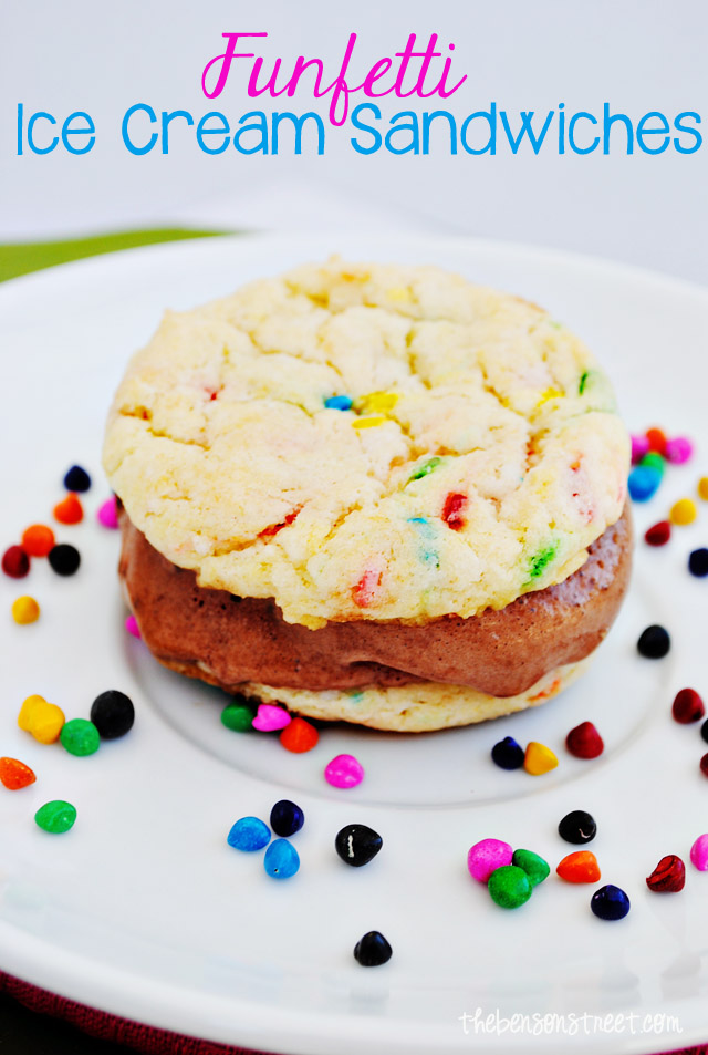 Funfetti Ice Cream Sandwiches at thebensonstreet.com