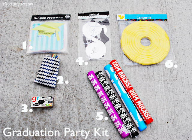 Graduation Party Kit Supplies at thebensonstreet.com