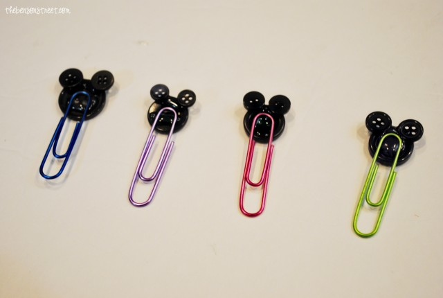 Finished Mickey Mouse Paper Clips at thebensonstreet.com