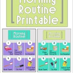 Morning Routine Printable: Back to School Series