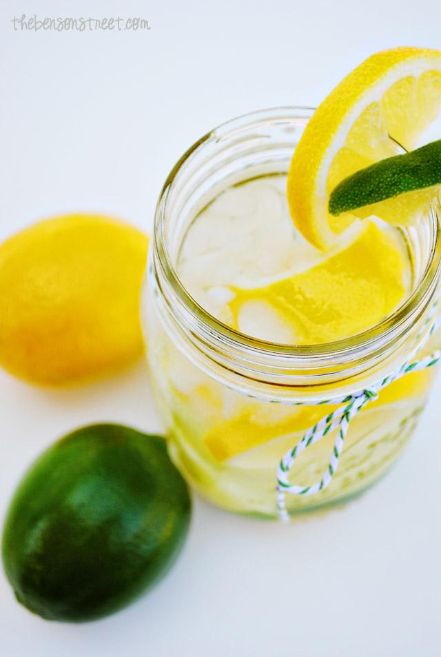 Sweet Lemon Lime Infused Water at thebensonstreet.com
