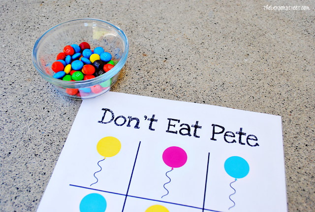 Don't Eat Pete Birthday Game at thebensonstreet.com