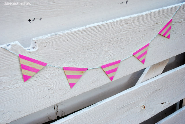 Wooden Pendant Banner at thebensonstreet.com