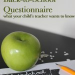 Student Teacher Questionnaire: Back to School Series