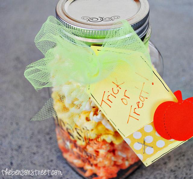 Adorable Candy Corn Popcorn Idea at thebensonstreet.com