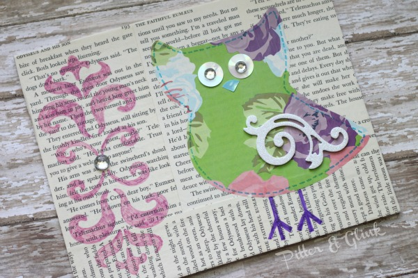 Book Page Owl Art