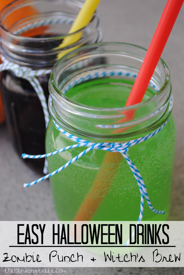 Easy to make Halloween Drinks at thebensonstreet.com