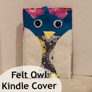 Felt Owl Kindle Cover