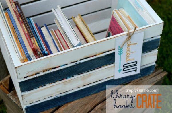 Library Books Crate