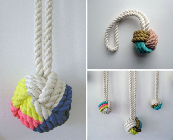 Volleyball Monkey Knot Necklaces
