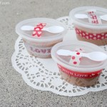 Valentine Fudge Cups Gift