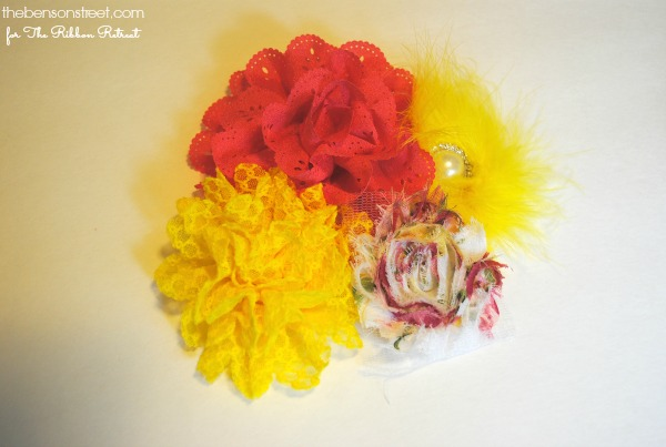 Cute Flowers for a fun wreath at thebensonstreet.com