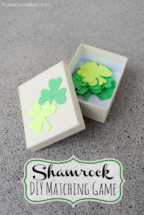 Shamrock DIY Matching Game for Kids at thebensonstreet.com