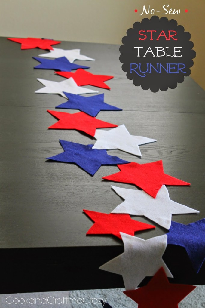 No-Sew Star Table Runner