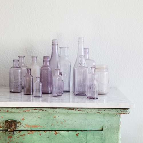Pastel Glass Bottles