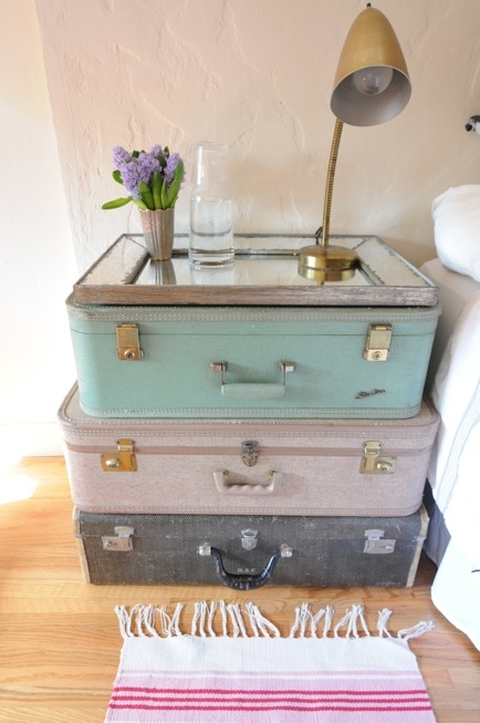 Pastel Suitcase Table