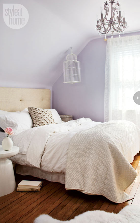 Purple Pastel Accent Wall