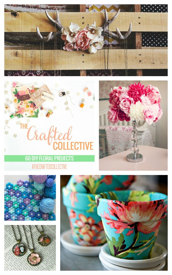 The Crafted Collective 60 DIY Floral Projects at thebensonstreet.com