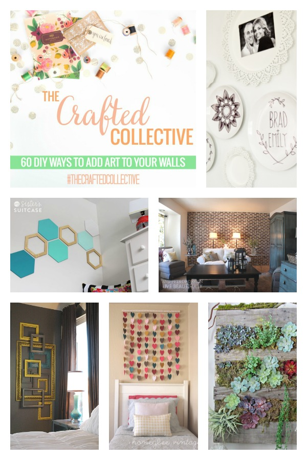 The Crafted Collective 60 DIY Ways to add art to your walls at thebensonstreet.com