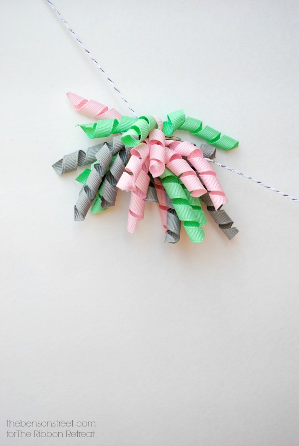 Easy to make ribbon pom poms at thebensonstreet.com