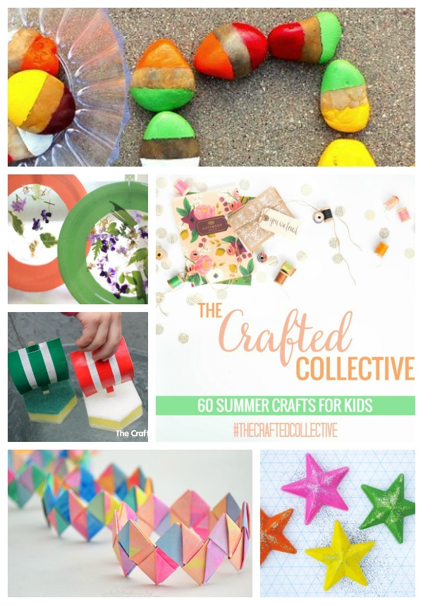 The Crafted Collective 60 Summer Crafts for Kids at thebensonstreet.com