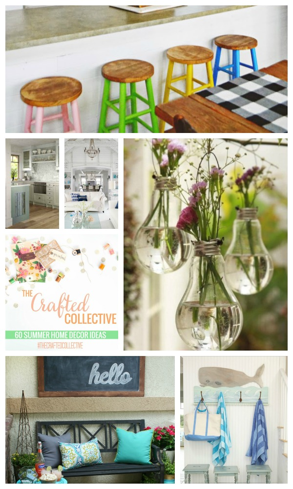 The Crafted Collective 60 Summer Home Decor Ideas at thebensonstreet.com
