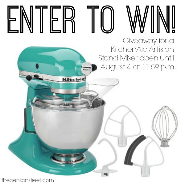 KitchenAid Mixer Giveaway at thebensonstreet.com