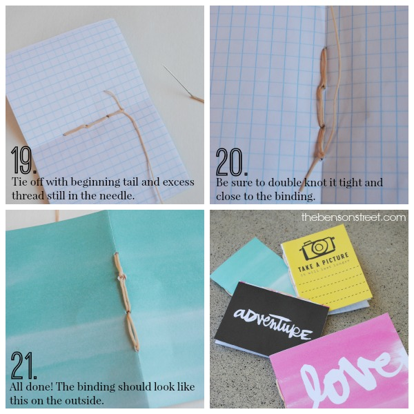 Learn how to bind mini journals at thebensonstreet.com