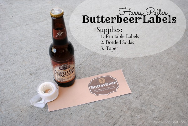 Make fun Harry Potter Butterbeer labels at thebensonstreet.com